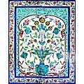 Blue Turquoise Pot 20-tile Ceramic Wall Mural Art