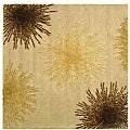 Handmade Soho Burst Beige New Zealand Wool Rug (6' Square)