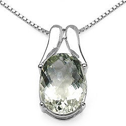 Malaika Sterling Silver Green Amethyst Necklace