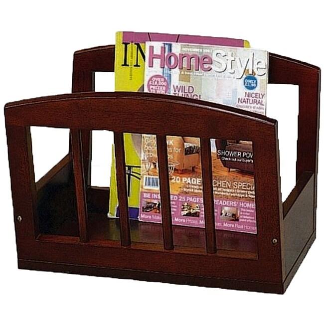Classic Wood Magazine Rack