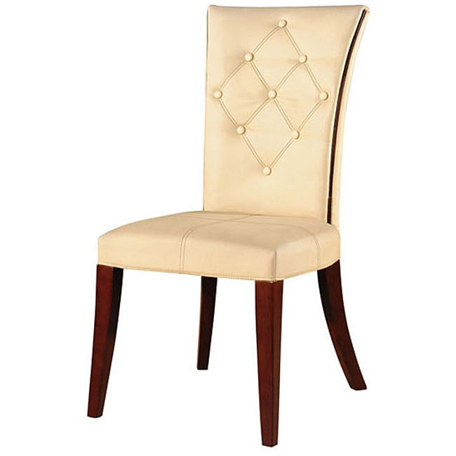 Traditional Leather Dining Chairs (Set of 2)