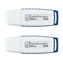 Kingston Data Traveler 16GB USB Flash Drive (Pack of 2)