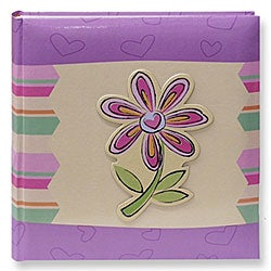 Pioneer 3D Striped Flower Applique 4x6 Photo Album (Pack of 2)