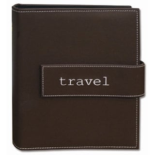Pioneer Photo Brown 4x6 Hook-and-loop Strap Photo Albums (Pack of Two)