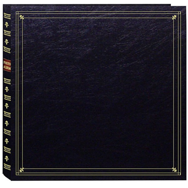 Pioneer Large Format Black with Gold Accents Cover Memo Album with 120 Bonus Pockets