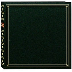 Pioneer Large Format Hunter Green with Gold Accents Cover Memo Album with 120 Bonus Pockets