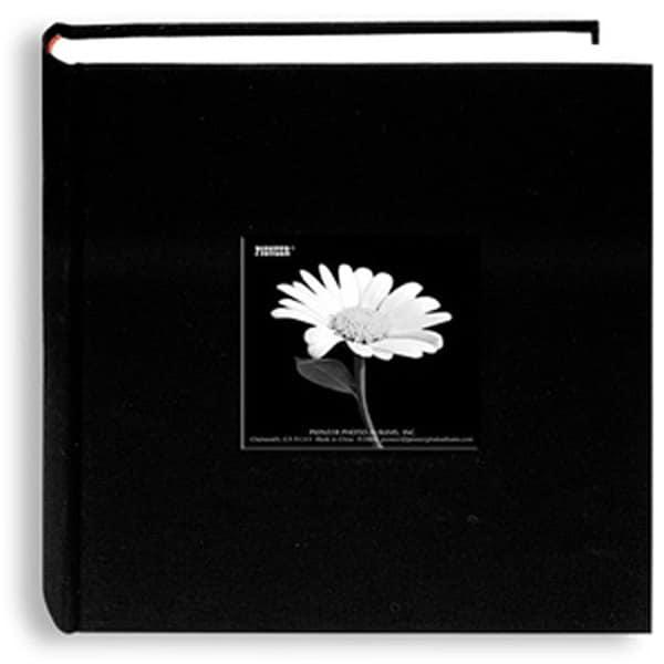 Pioneer Fabric Frame Cover Black Bi-directional Memo Albums (Pack of 2)