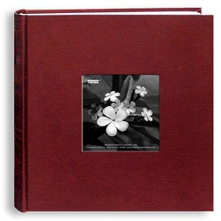 Pioneer Cranberry Silk Fabric Frame Cover Bi-directional Memo Albums (Pack of 2)