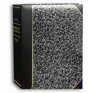 Pioneer Silver Marble Ledger Cover 5x7 Bookstyle Bi-directional Memo Albums (Pack of 2)