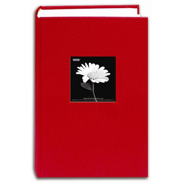 Pioneer Fabric Frame Cover Apple Red Bi-directional Memo Albums (Pack of 2)