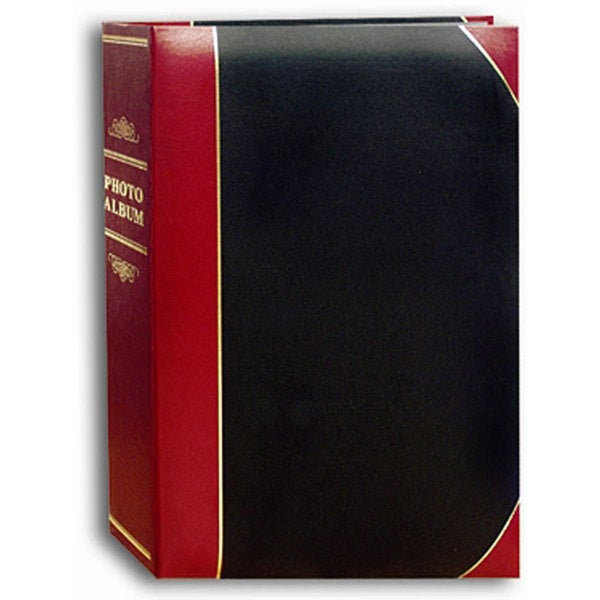 Pioneer Red/Black 4 x 6 Ledger-style Photo Album (Pack of Two)