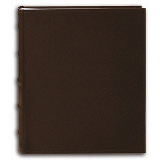 Pioneer Sewn European Bonded Brown Leather Bookbound Bi-directional Memo Albums (Pack of 2)