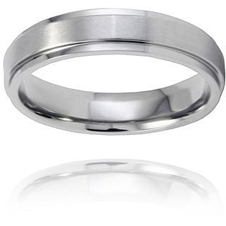 West Coast Jewelry Men's Titanium Raised Center Ring