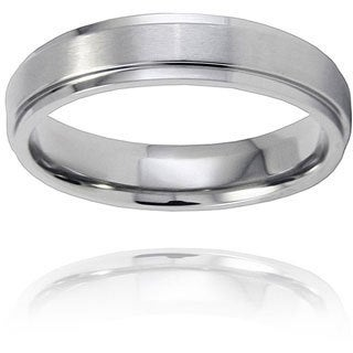 Men's Titanium Raised Center Ring