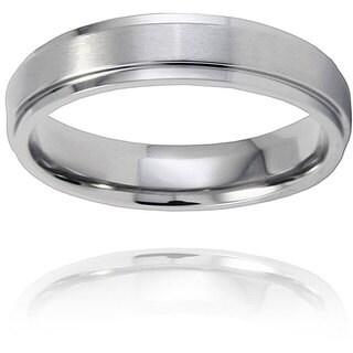 Men's Titanium Raised Center Ring