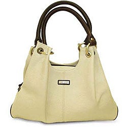 Rioni 'Virtue' Cream Casual Shoulder Bag