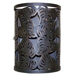 Handcrafted Cut Leaf Iron Lantern (India)