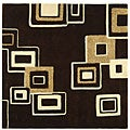 Handmade Soho Gala Brown/ Beige New Zealand Wool Rug (6' Square)