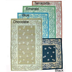 Paisley Floral Indoor/ Outdoor Area Rug (5'3 x 7'6)