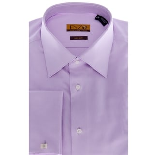 Men's Lavender French Cuff Twill Dress Shirt