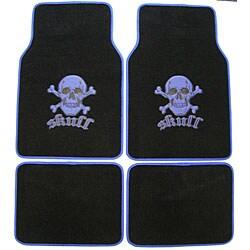 Blue Skull and Crossbones Car/ Truck Floor Mat Set