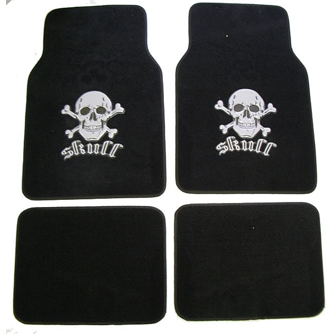 Grey Skull and Crossbones Car/ Truck Floor Mat Set at Sears.com