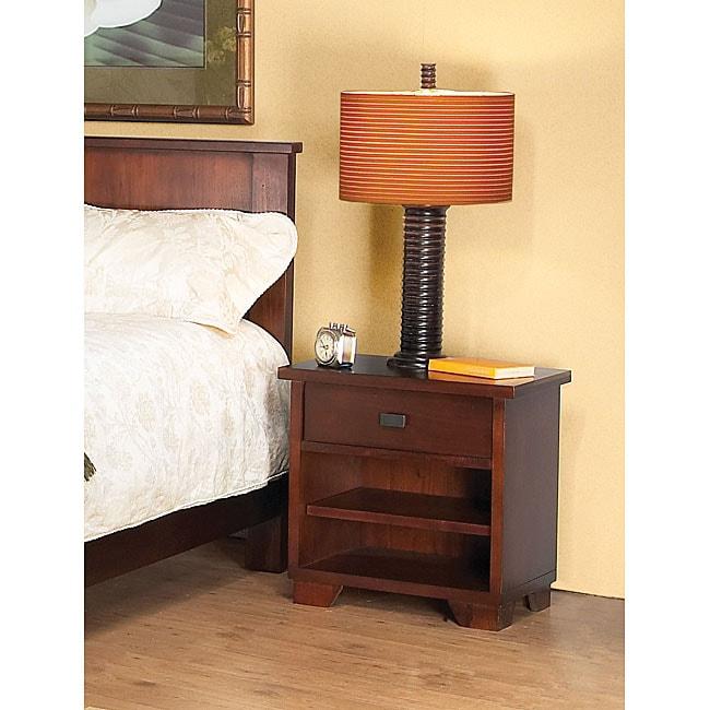 Rustic 1-drawer Nightstand