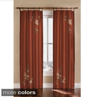 Alesandra Floral Accent Window Curtain Panel
