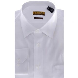 Men's White Twill Barrel-cuffed Dress Shirt