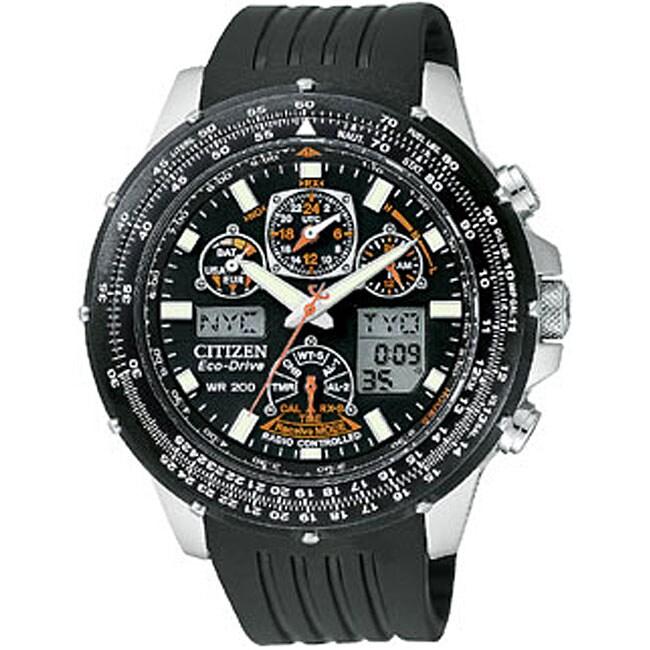 Citizen Eco-Drive Skyhawk A-T Men's Rubber Strap Watch