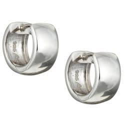Sterling Essentials Sterling Silver 14mm x 7mm Hinged Hoop Earrings