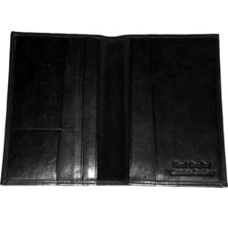 Kozmic Black Leather Passport Wallet