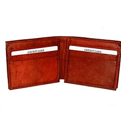 Kozmic Men's Real Leather Bifold Wallet