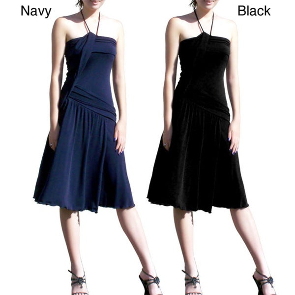 Evanese Women's Jersey Tube Dress with Neck Straps