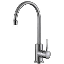 Kraus Kitchen Combo Set Stainless Steel Single Lever Kitchen Faucet