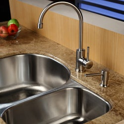 Kraus Stainless Steel Single Lever Kitchen Faucet