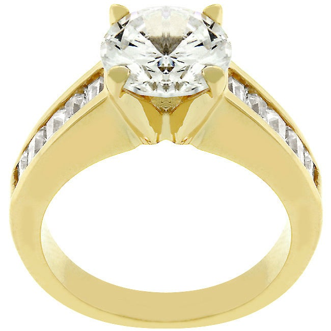 kate bissett Kate Bissett 14k Goldtone Anniversary-style Clear Cubic Zirconia Ring