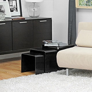 Alec Black Acrylic Nesting End Tables (Set of 3)