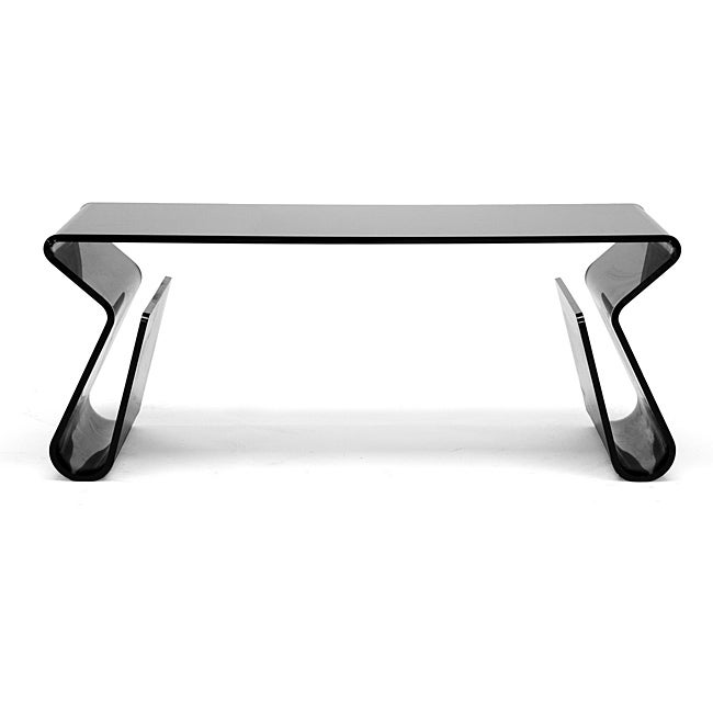 Adair black acrylic coffee table 11898783 overstock for Overstock acrylic coffee table