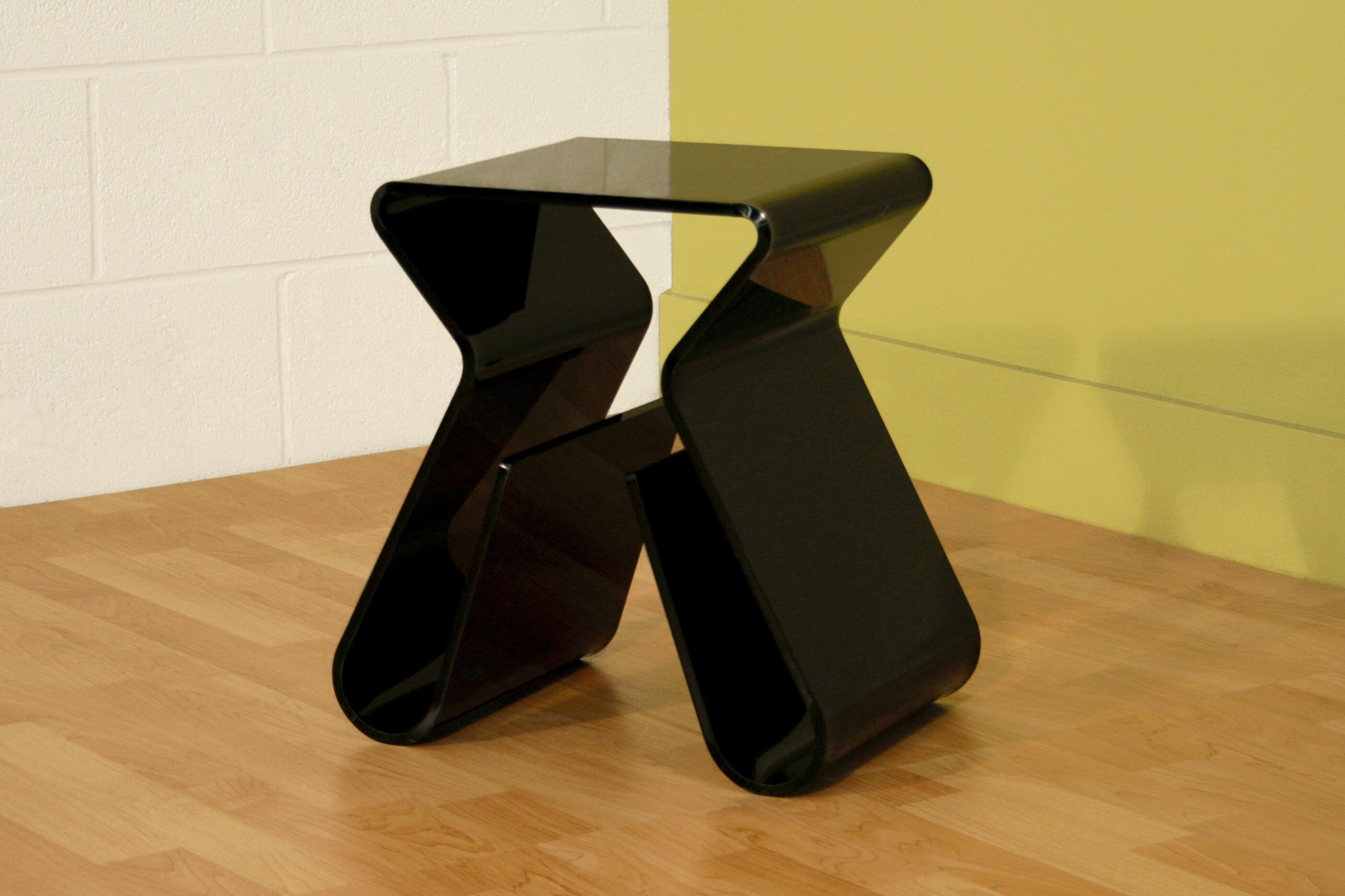 Baxton Studio Alec Black Acrylic Stool/ End Table