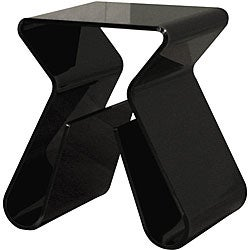 Baxton Studio Alec Black Acrylic Stool/ End Table
