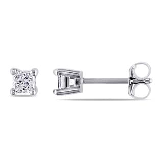 Miadora 14k Gold 1/3ct TDW IGL Certified Diamond Stud Earrings (G-H, I1-I2)
