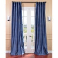 Signature Winter Blue Textured Silk 108-inch Curtain Panel