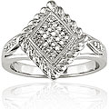 Miadora Sterling Silver 1/10ct TDW Textured Diamond Ring