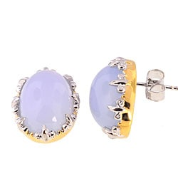 Michael Valitutti Palladium Silver Chalcedony Earrings