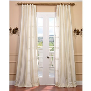Signature Pearl White Textured Silk Curtain