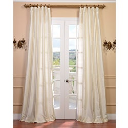 Signature Pearl White 96-inch Textured Silk Curtain