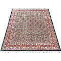 Indo Green/ Red Wool/ Cotton Rug (8' x 10')