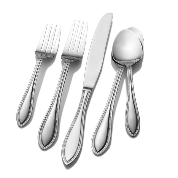 International Silver American Bead 53-piece Flatware Set