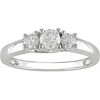 Miadora 14k Gold 1/2ct TDW Tound Diamond Engagement Ring (H-I, I1-I2)